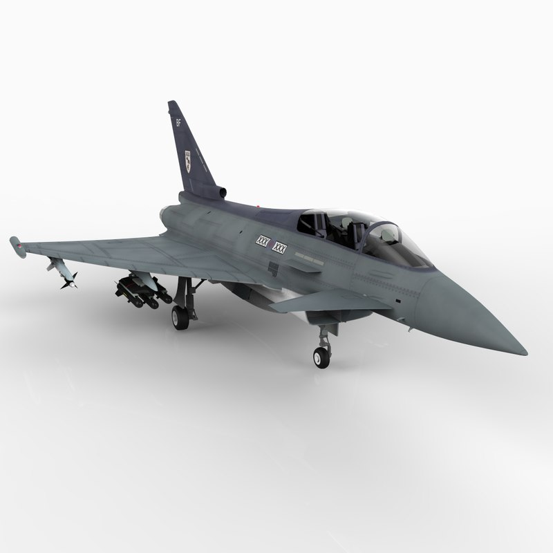 3d eurofighter typhoon raf version model