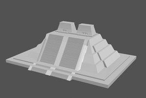 aztecs pyramids 3d model