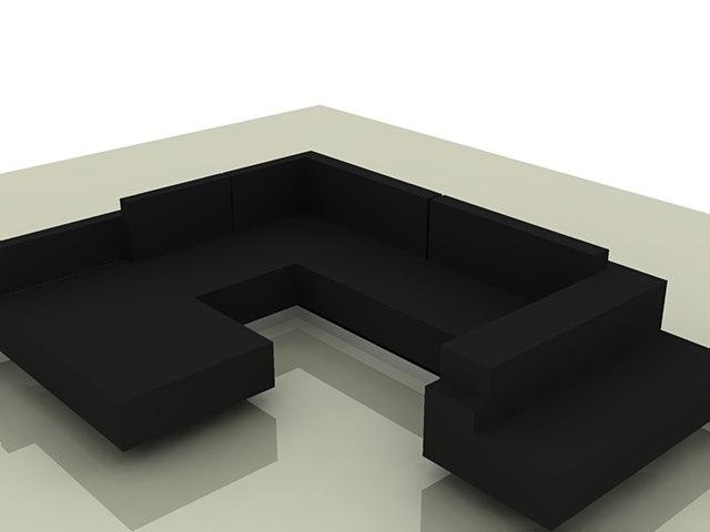 free 3ds model sofa