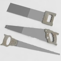 saw hand handsaw 3d model