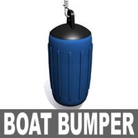 3d boat bumper model