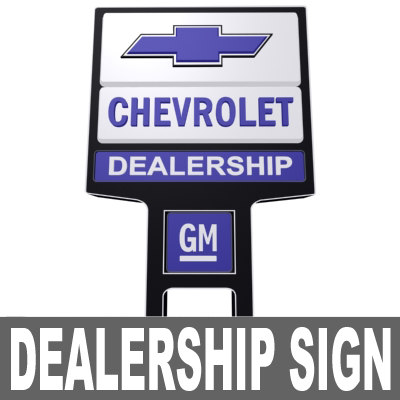 chevrolet dealership sign 3d model