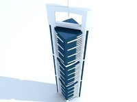 3d model dubai skyscraper 1 building