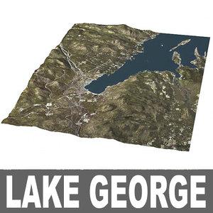 3d lake george model