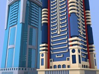 2 skyscrapers dubai building 3d model