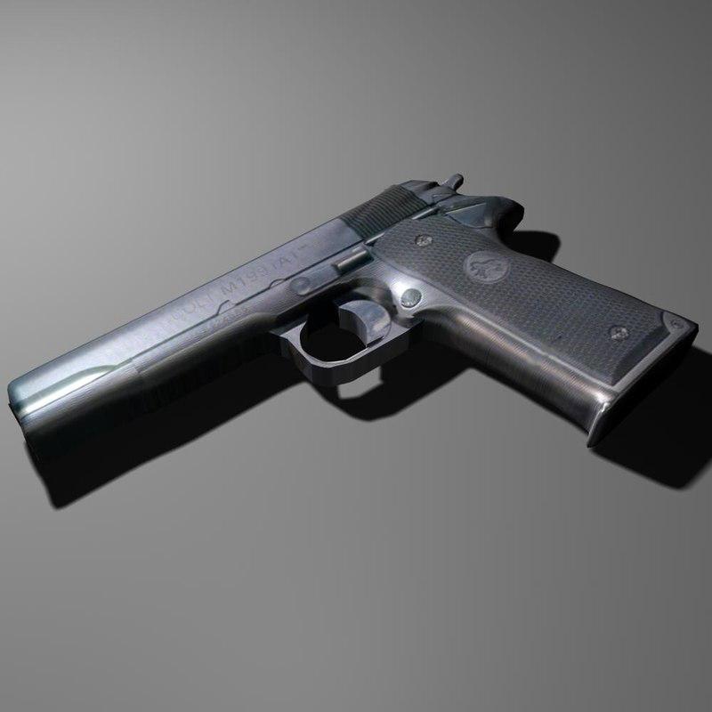 3ds max colt 1911