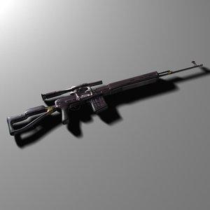 dragunov gun 3d max