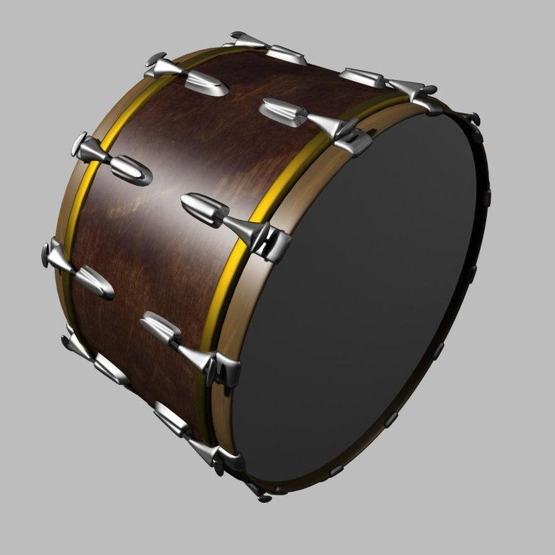 drum 3d max