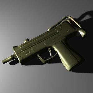 gun 3d obj