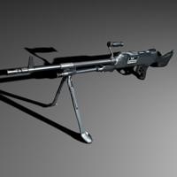 gun rifle obj