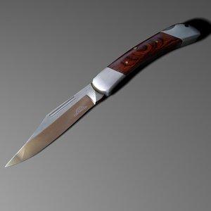 3d knife pocketknife model