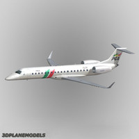 embraer erj-145 regional jet 3d model