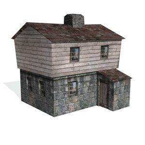 historical stone blockhouse buildings 3d 3ds