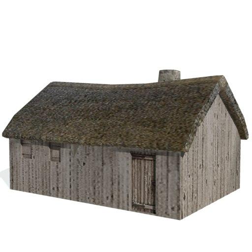 historical farms buildings 3ds