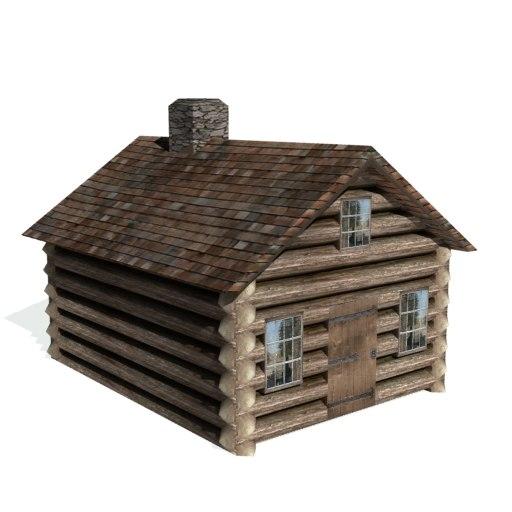 3d historical log cabin farms
