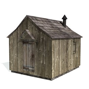historical shanty farms buildings 3d 3ds