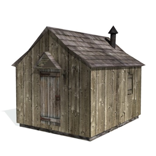 historical shanty farms buildings 3d 3ds