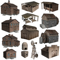 3ds historical buildings farms