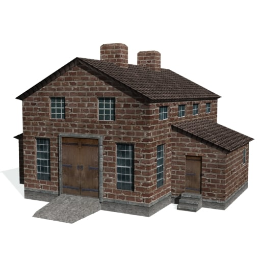 3d model historical brewery distillery factory