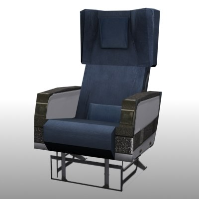 3ds max airline seat