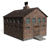 3d model historical machine shop factory