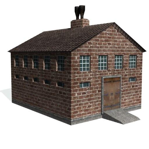 3d model historical machine shop factory