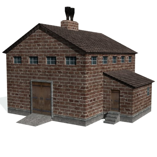 3d historical stamp factory buildings