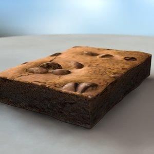 3d brownie chocolate