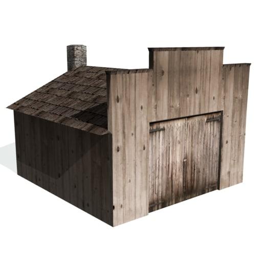 3d historical workshop farms buildings