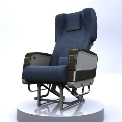airline seat 3d model