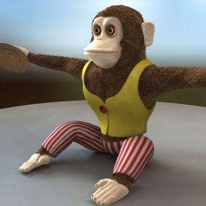toy monkey 3d model