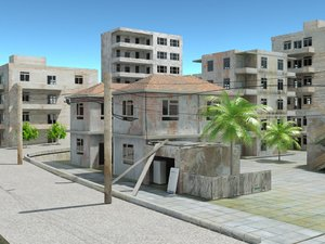 old town 3d max