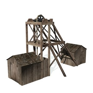 3d model historical hard rock mining