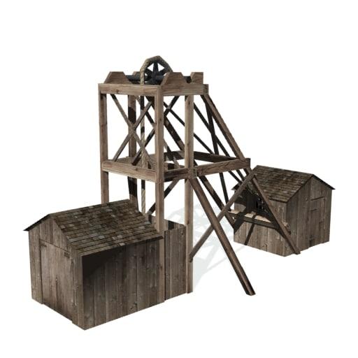 3d model historical hard rock mining