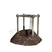 historical mining 3d model