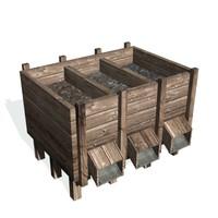 historical ore bin 3d model