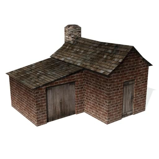 historical blacksmith farrier building 3d 3ds