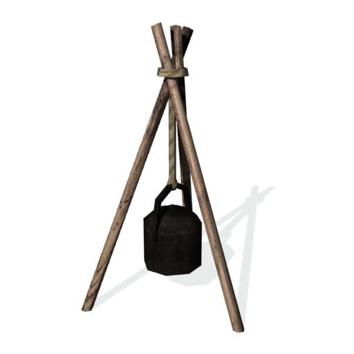 3d historical cooking tripod model