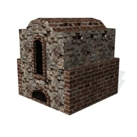 historical pottery kiln 3d model