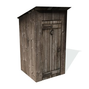 3d 3ds historical outhouse