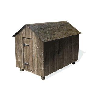 historical shed 3d model