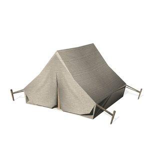 3d historical tent model