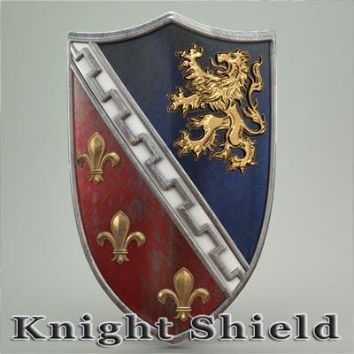 3ds max knight shield