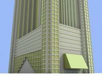 3d dubai skyscrp 4 skyscrapers model