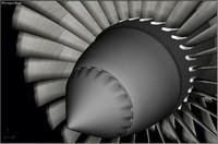 Jet engine rotating parts