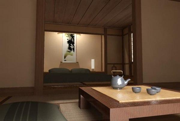 asian room 3d model