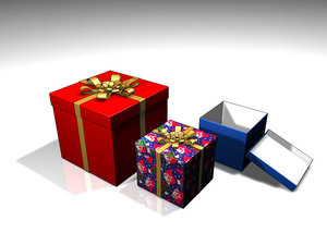 gift box present 3d 3ds