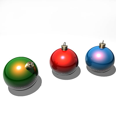 3d ball xmas model