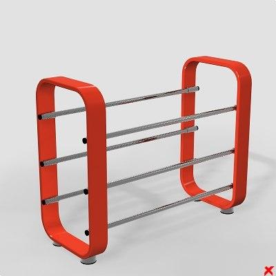 3d model shoe rack