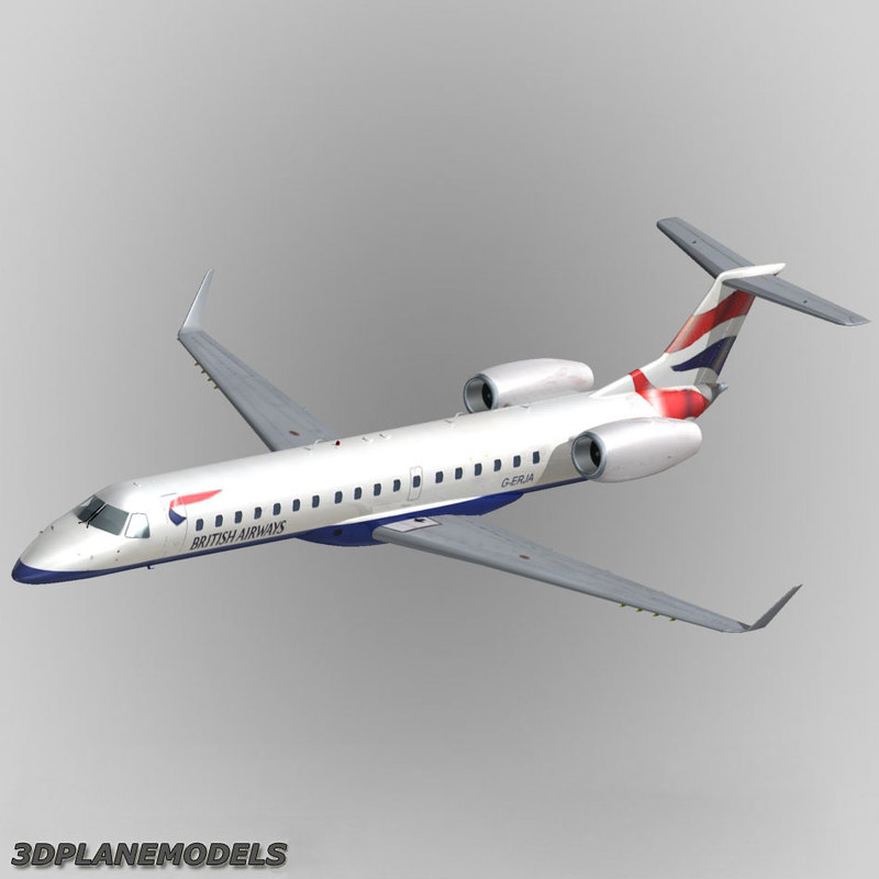 embraer erj-145 3d model